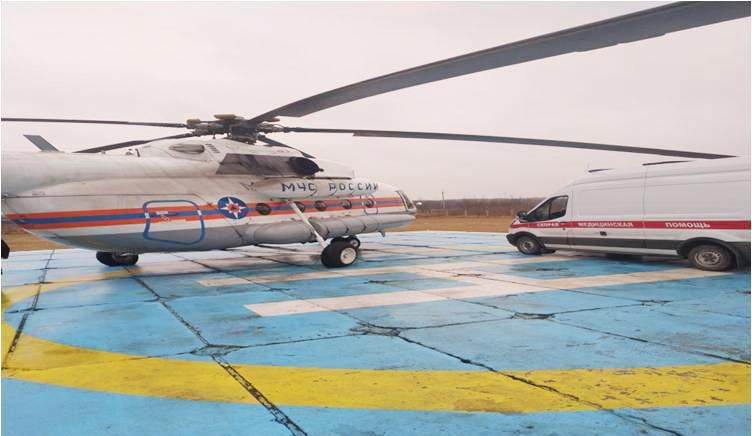 Вертолет санавиации экстренно доставил пациента из Андреапольского района в Тверь