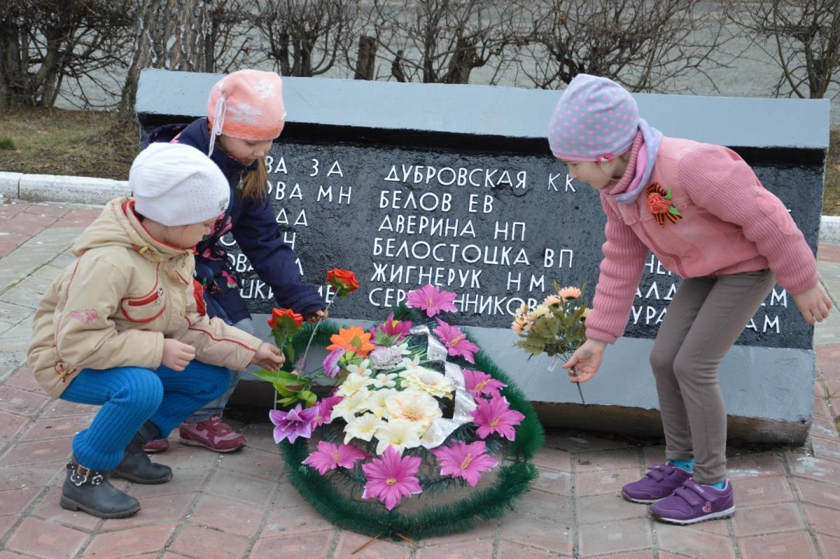 Школы и детские сады Тверской области участвуют в акции «Цветок Победы»