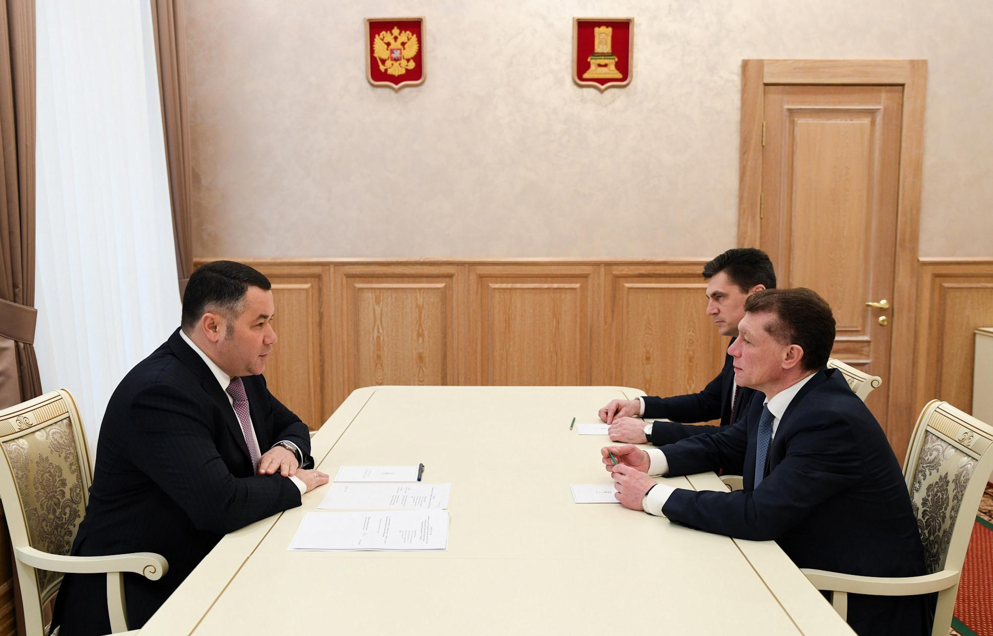 Игорь Руденя встретился с председателем правления Пенсионного фонда РФ Максимом Топилиным