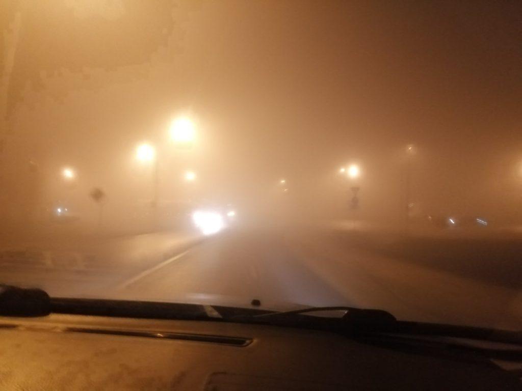 На трассы в Тверской области опустился супер густой туман