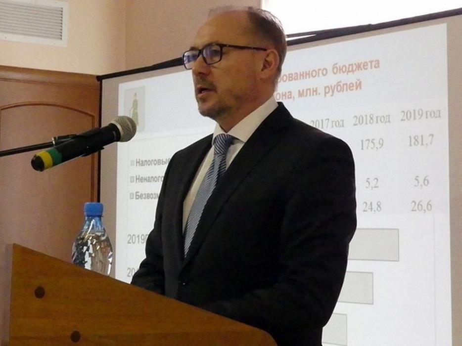 Глава Старицкого района Тверской области выступил с отчетом о работе администрации