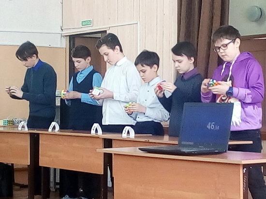 Соревнования по сбору кубика Рубика  прошли в Тверской области
