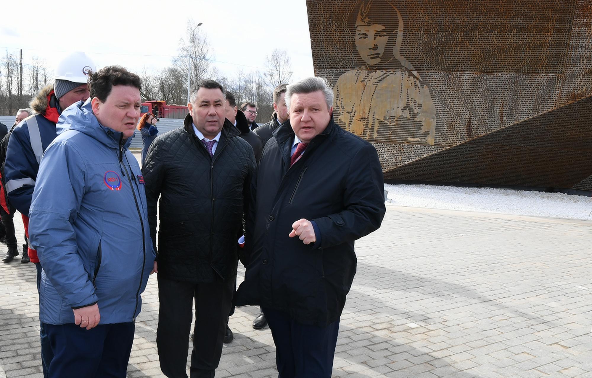Игорь Руденя проинспектировал ход работ по строительству Ржевского мемориала Советскому солдату