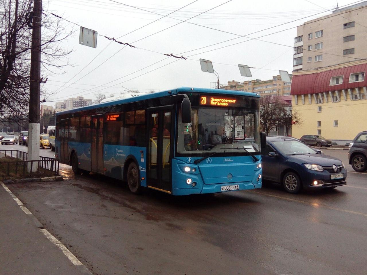 Автобусы крупного формата вышли на маршруты в Твери