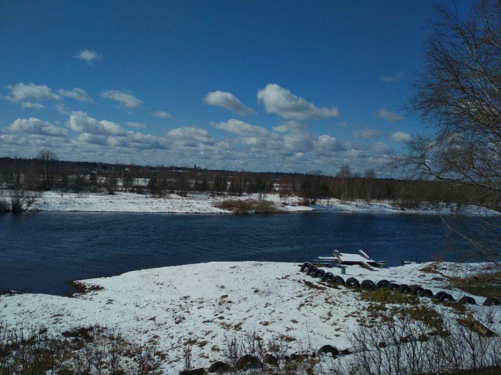 В Тверской области выпал красивый снег