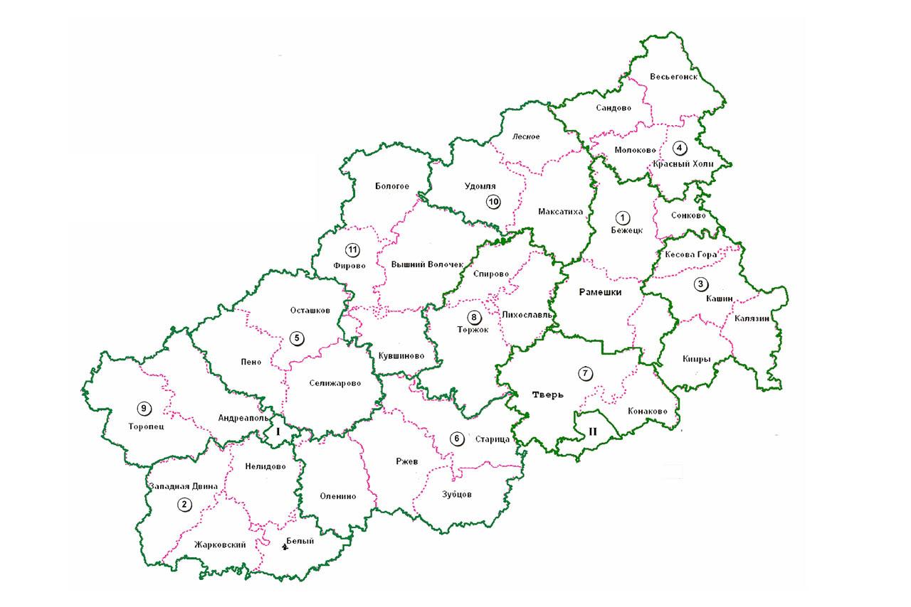 В Тверской области появилось пять новых муниципальных округов