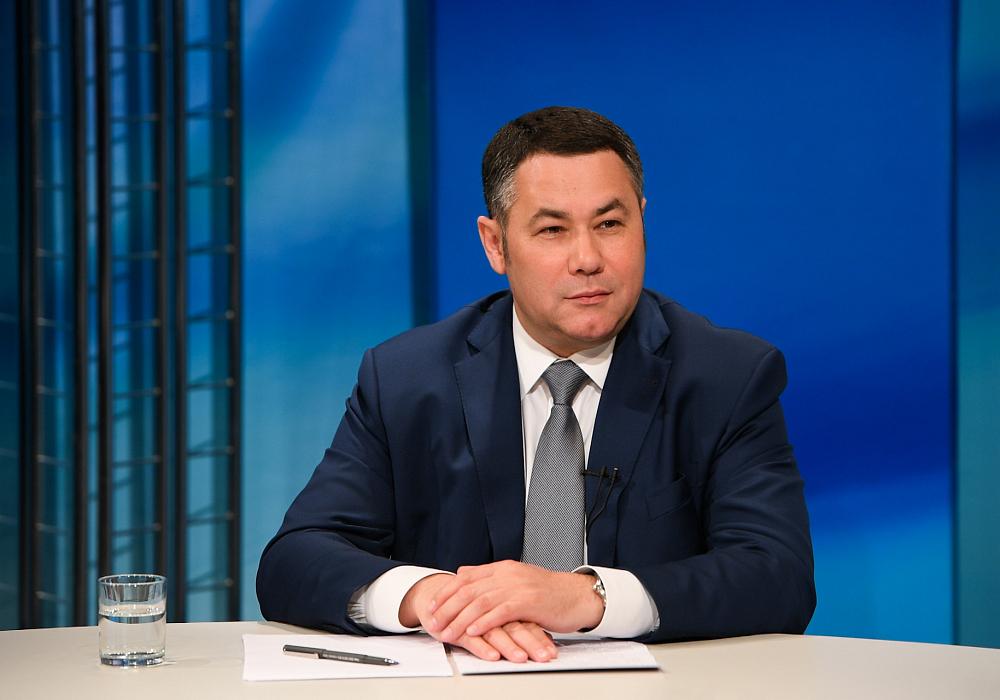 Губернатор Игорь Руденя в прямом эфире ответил на вопросы о коронавирусе в Тверской области