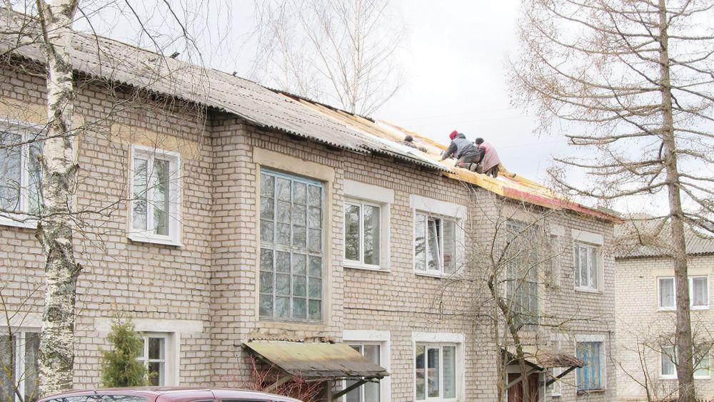 В посёлке Сандово продолжается капремонт в многоквартирных домах