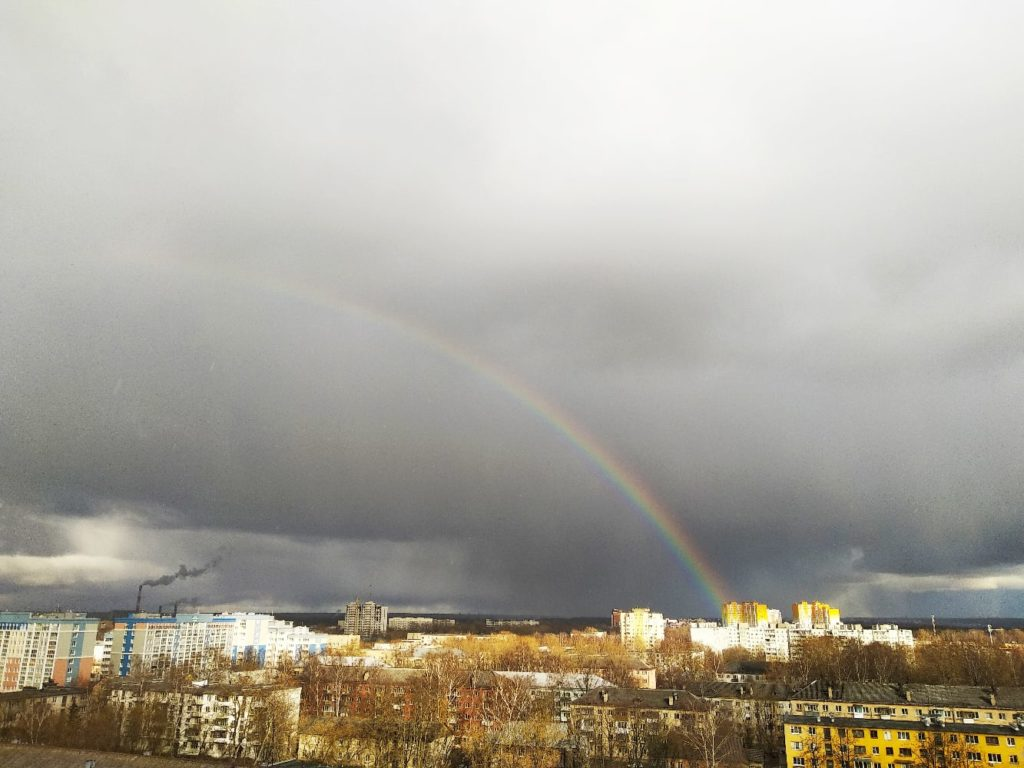 Над Тверью появилась радуга