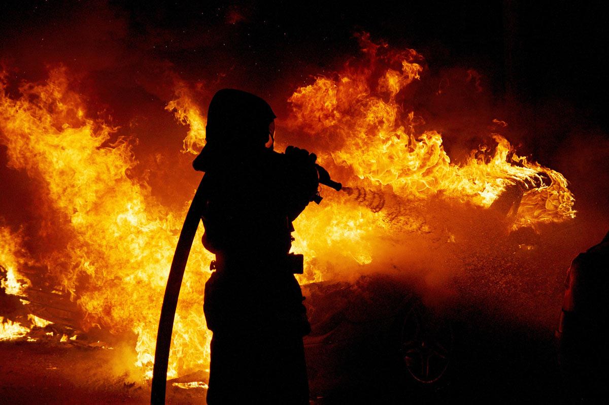 В Тверской области горела деревня