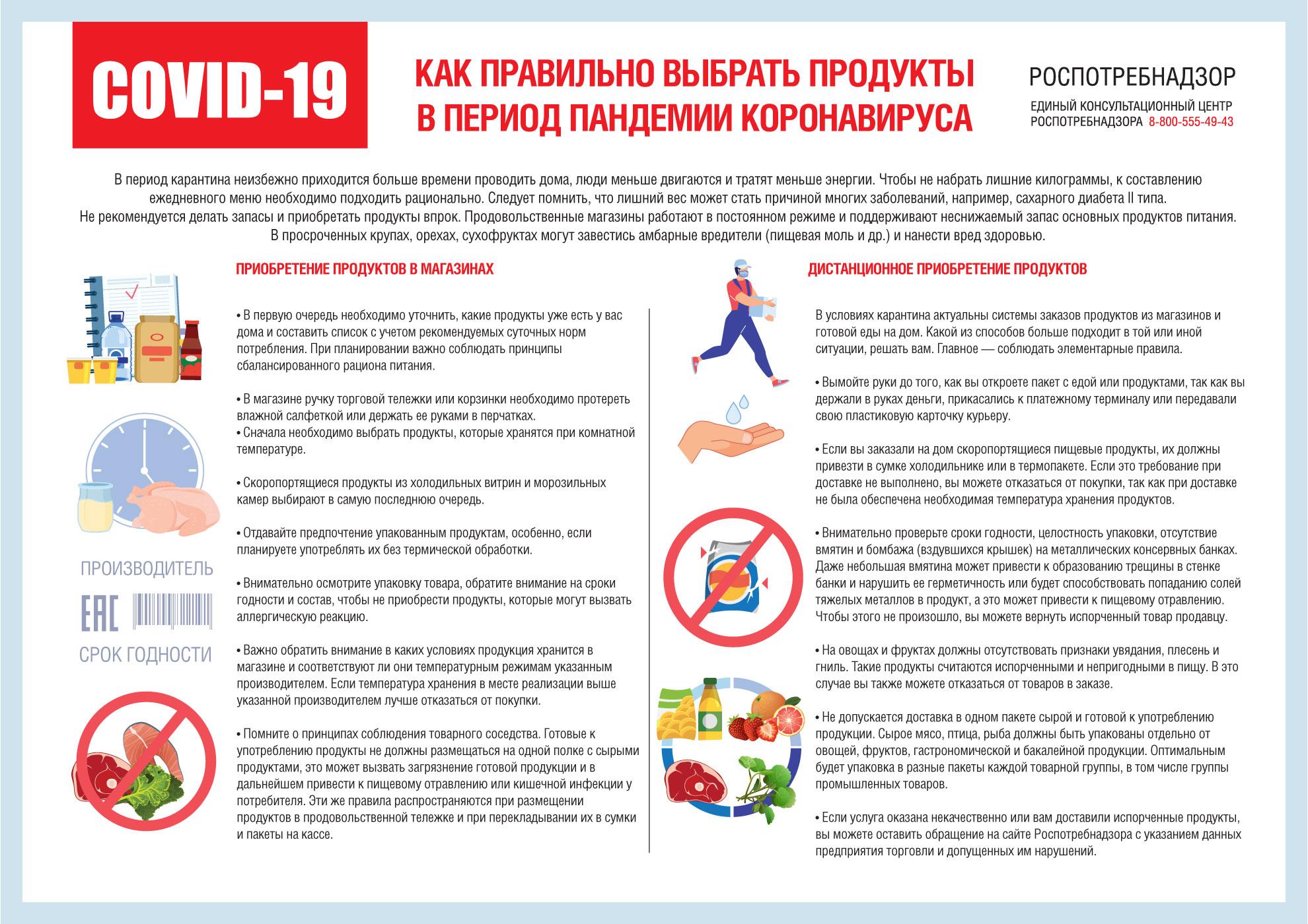 Жителям Тверской области объяснили, как не заразиться коронавирусной инфекцией в продуктовом магазине