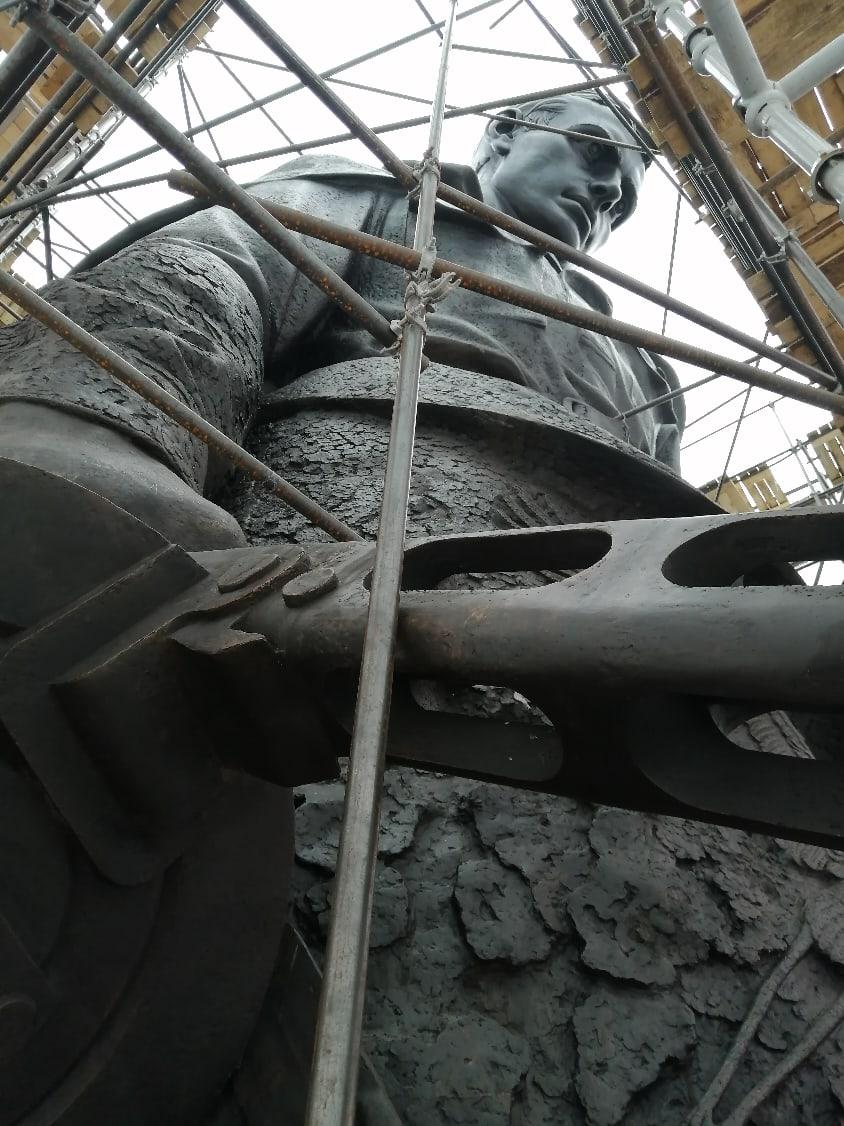 Скульптор Ржевского мемориала поделился свежими фотографиями монумента в Тверской области