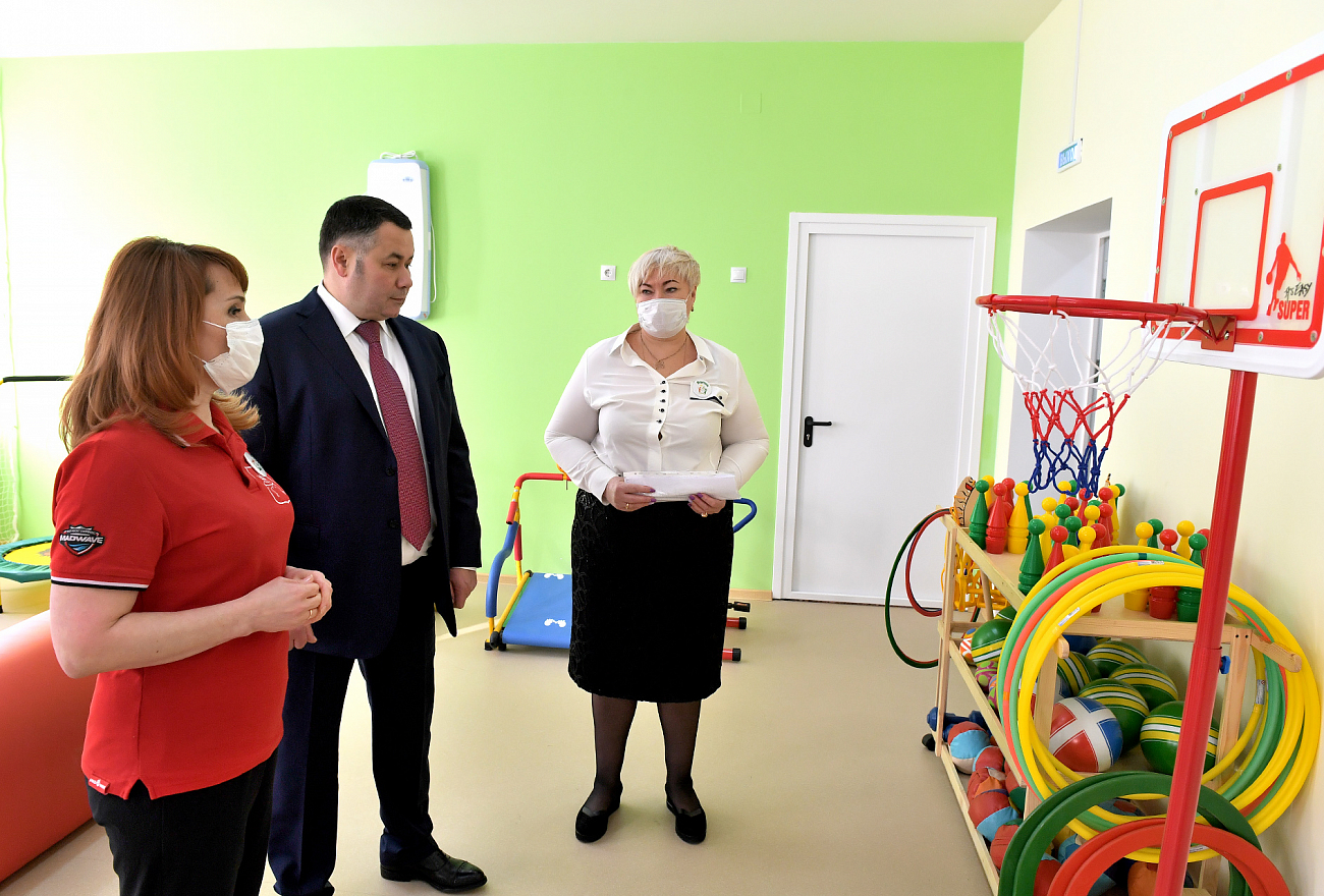 Игорь Руденя проверил готовность нового детского сада в микрорайоне «Южный»