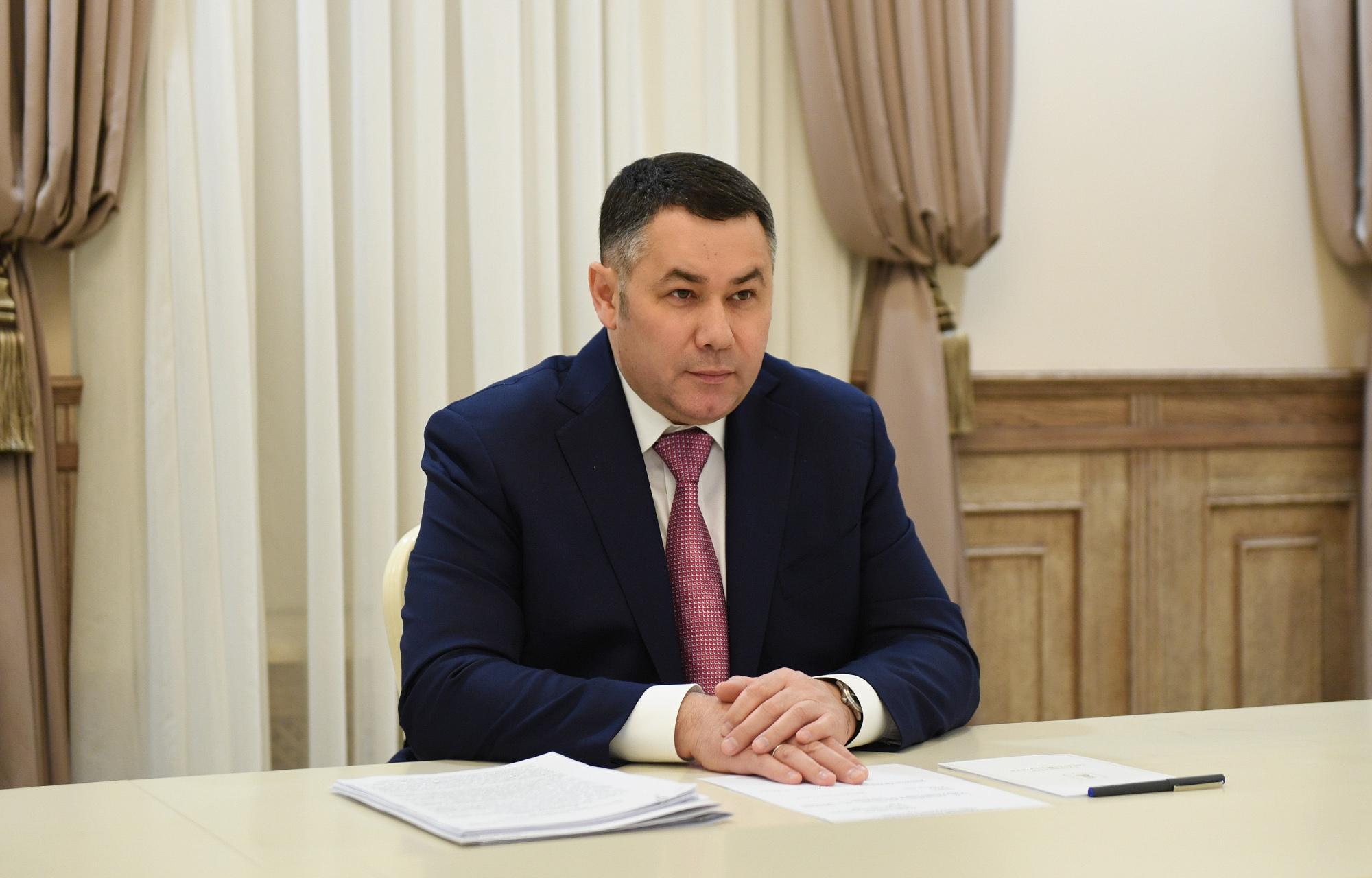 Игорь Руденя провел встречу с главой города Ржева Романом Крыловым