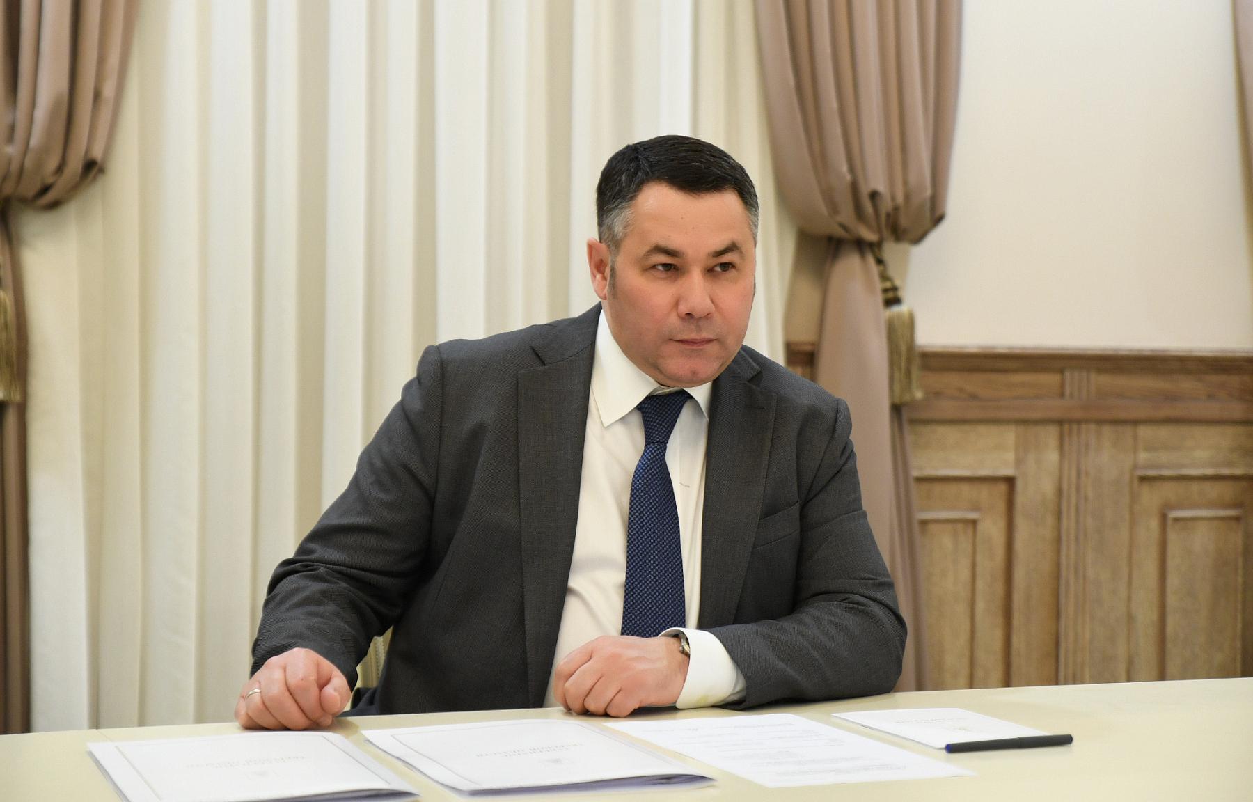 Губернатор встретился с главой Торопецкого района