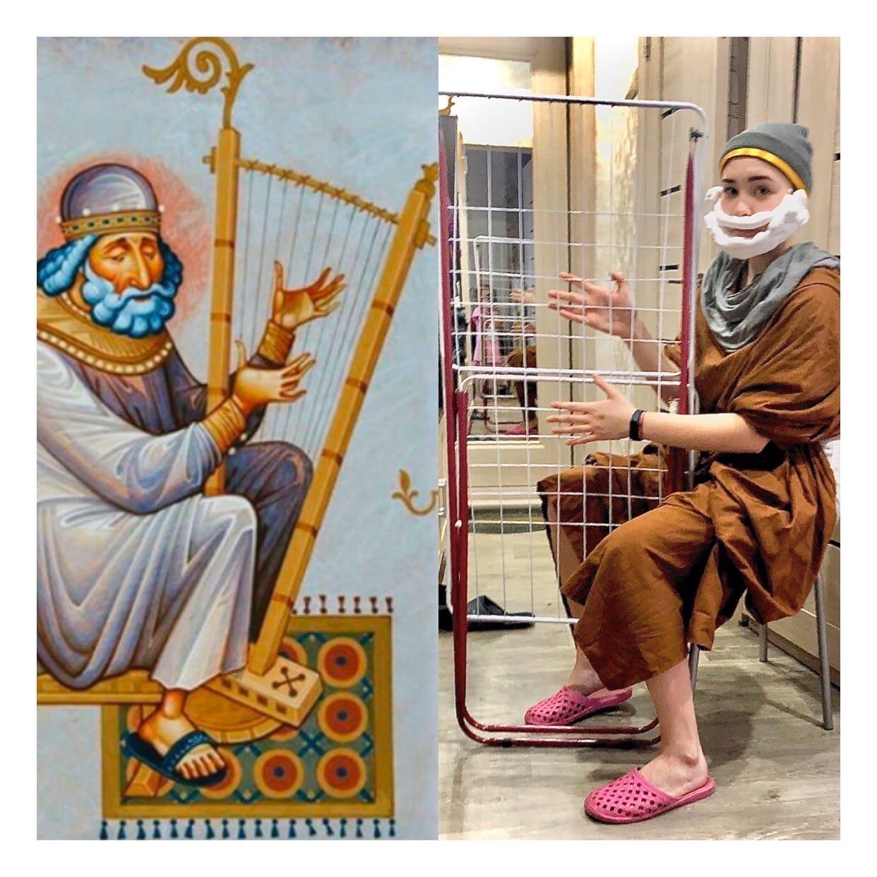 В Тверской области школьники воссоздали художественные шедевры подручными средствами