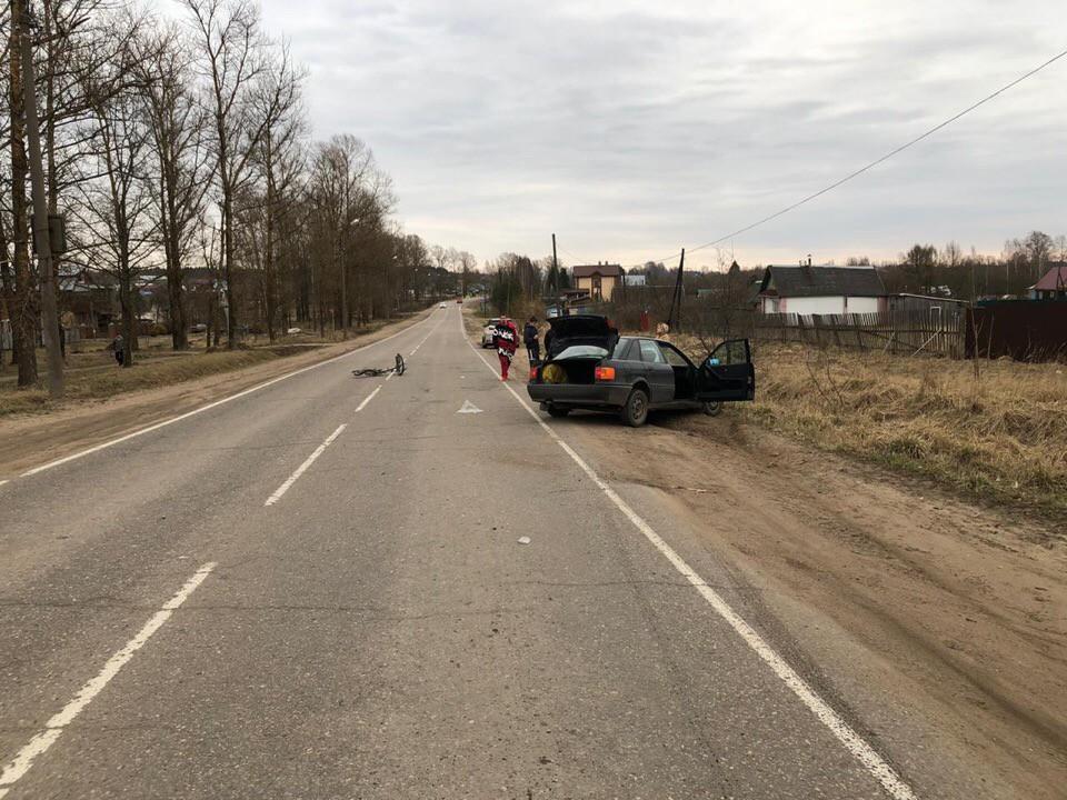 В Тверской области водитель сбил подростка на велосипеде