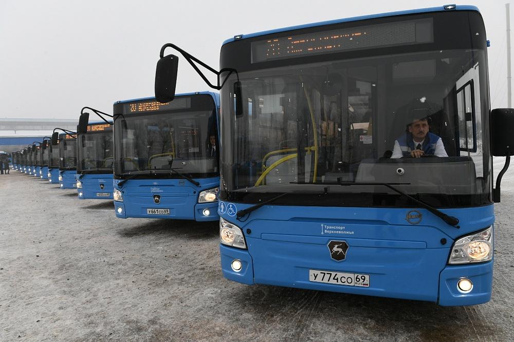 В Твери новые автобусы выйдут еще на один маршрут