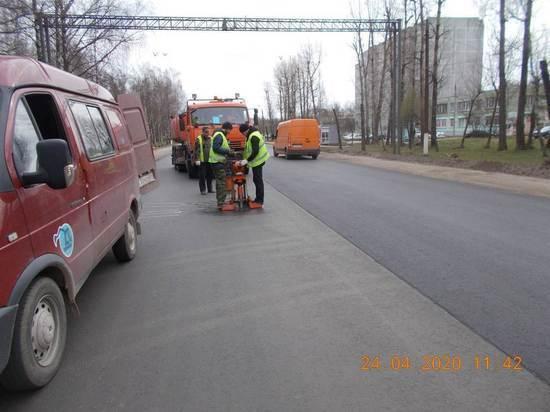 После ремонта на Московском шоссе в Твери нашли брак