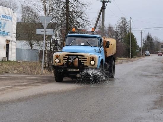 В Тверской области проводят дезинфекцию улиц