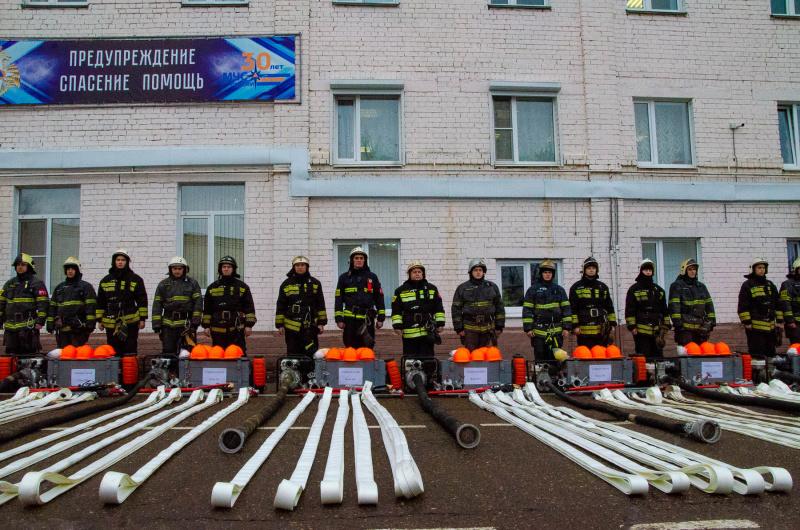 В МЧС Тверской области провели смотр готовности мобильных лесоторфяных групп