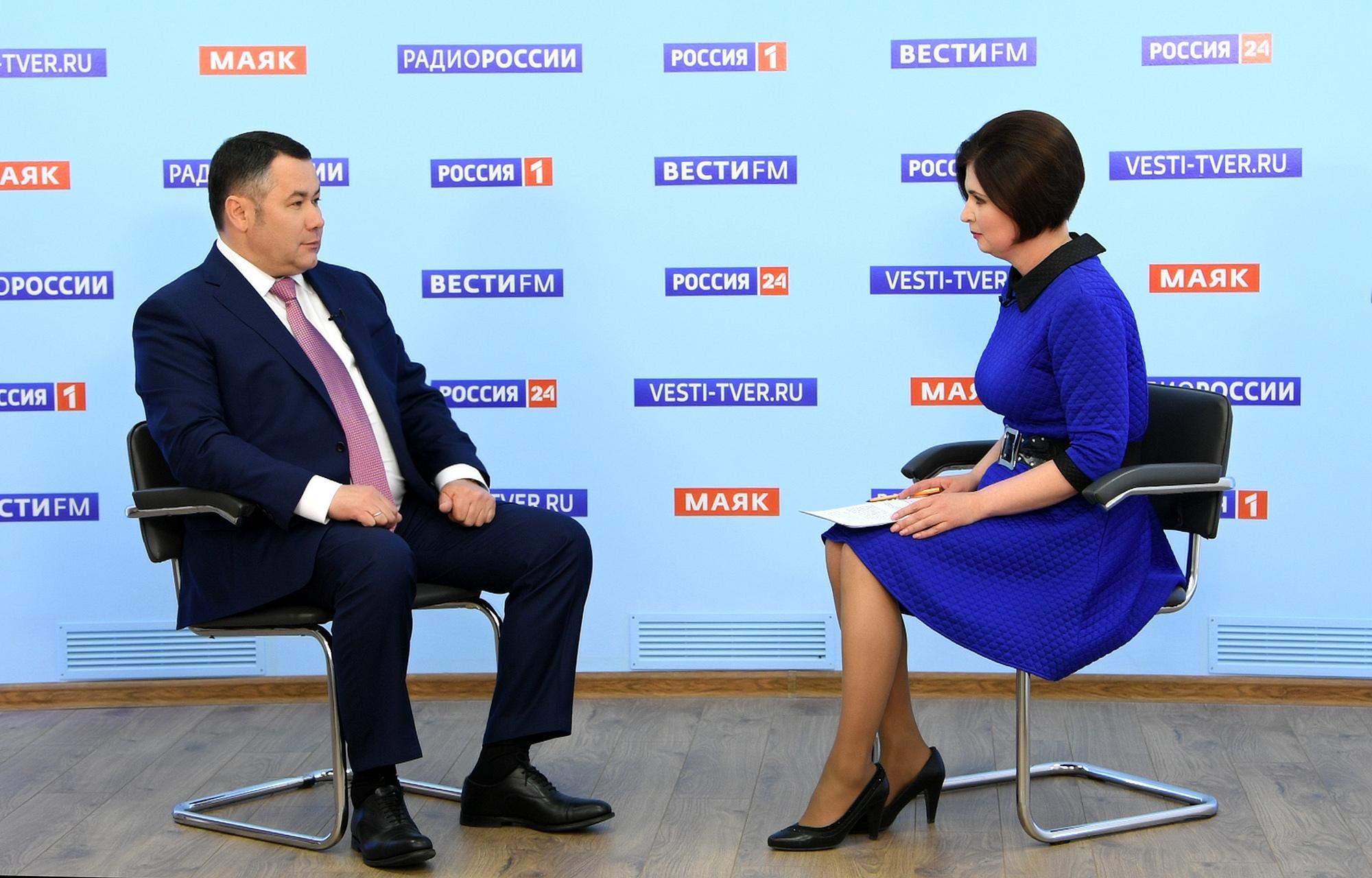 Игорь Руденя в прямом эфире рассказал о снятии ограничений, раздаче масок и поддержке семей с детьми в Тверской бласти