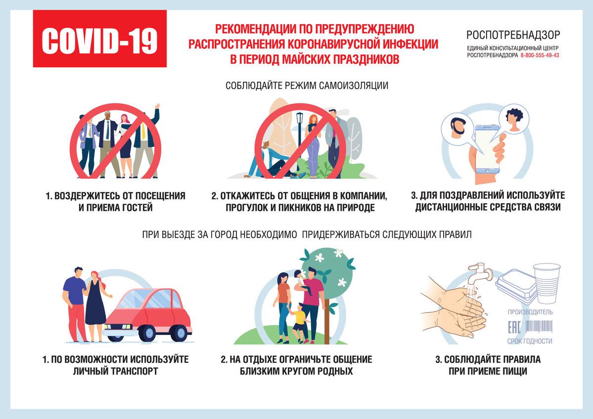 Роспотребнадзор рассказал, как не заразиться коронавирусом на майские праздники в Тверской области