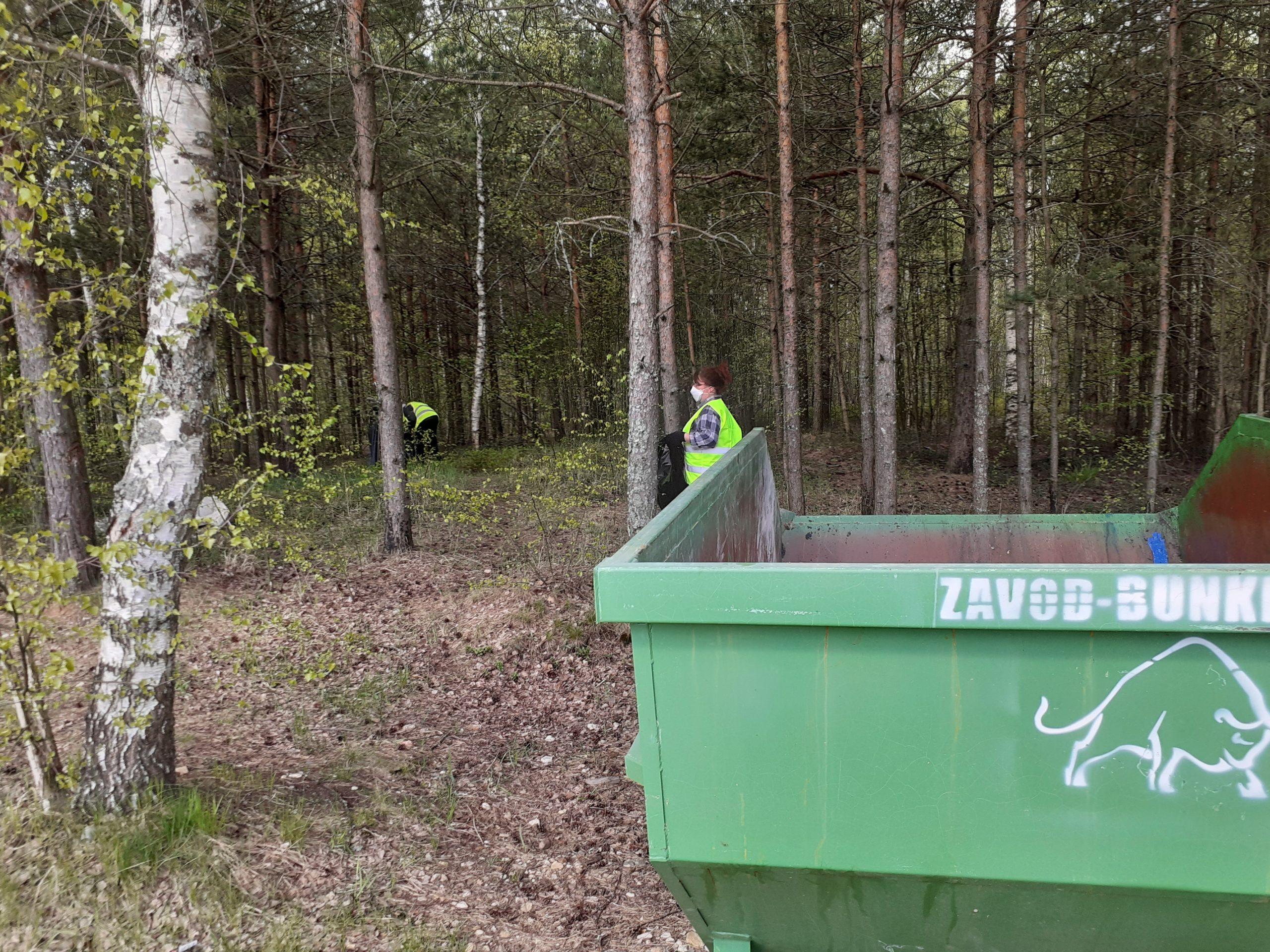 Берега карьеров под Тверью очистили от мусора