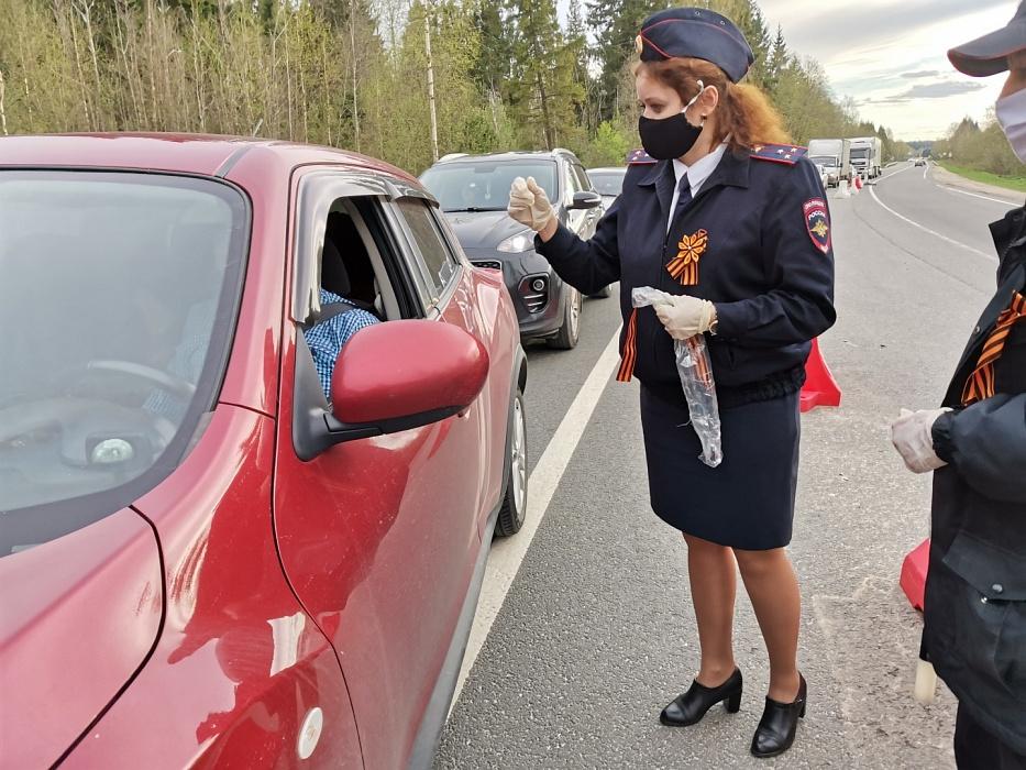 Автоинспекторы Конаковского района присоединились к акции «Георгиевская ленточка»