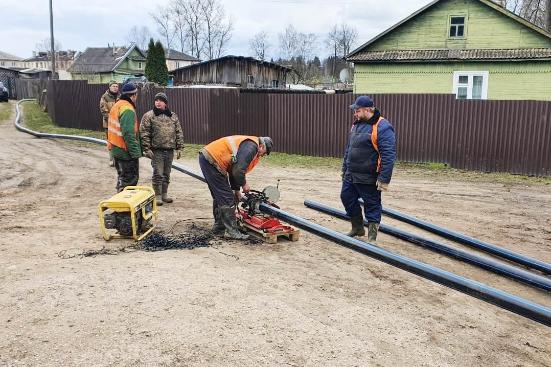 В Тверской области идут работы по реконструкции водопровода