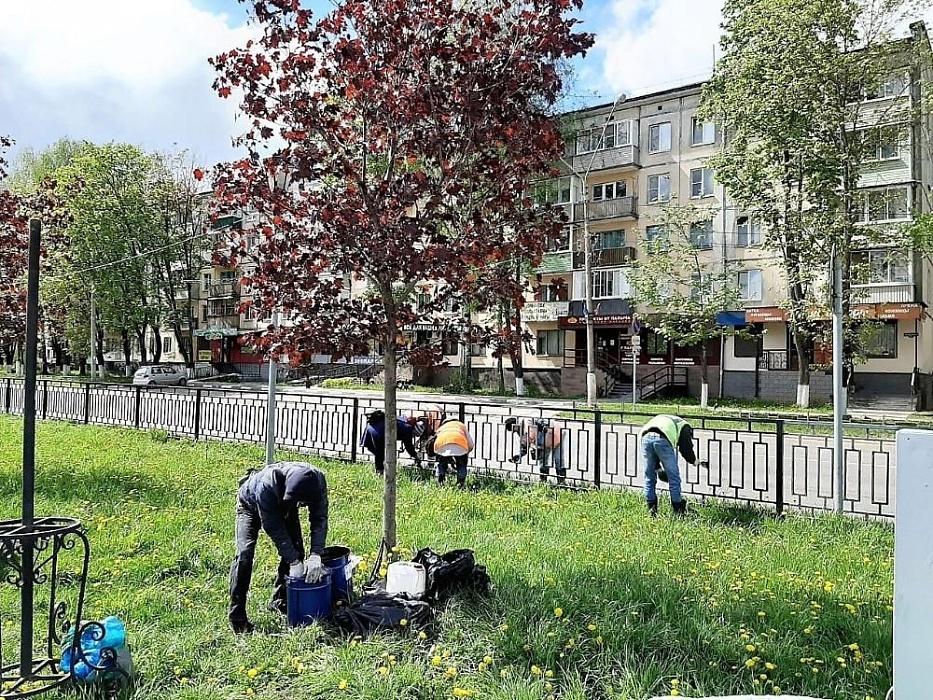 В Конаково проводятся работы по благоустройству территории