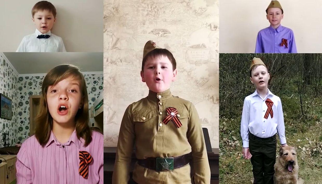 Юные жители Тверской области спели онлайн «Три танкиста»