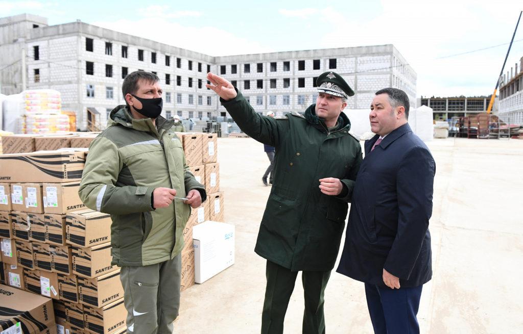Игорь Руденя и Тимур Иванов проинспектировали ход строительства тверского СВУ