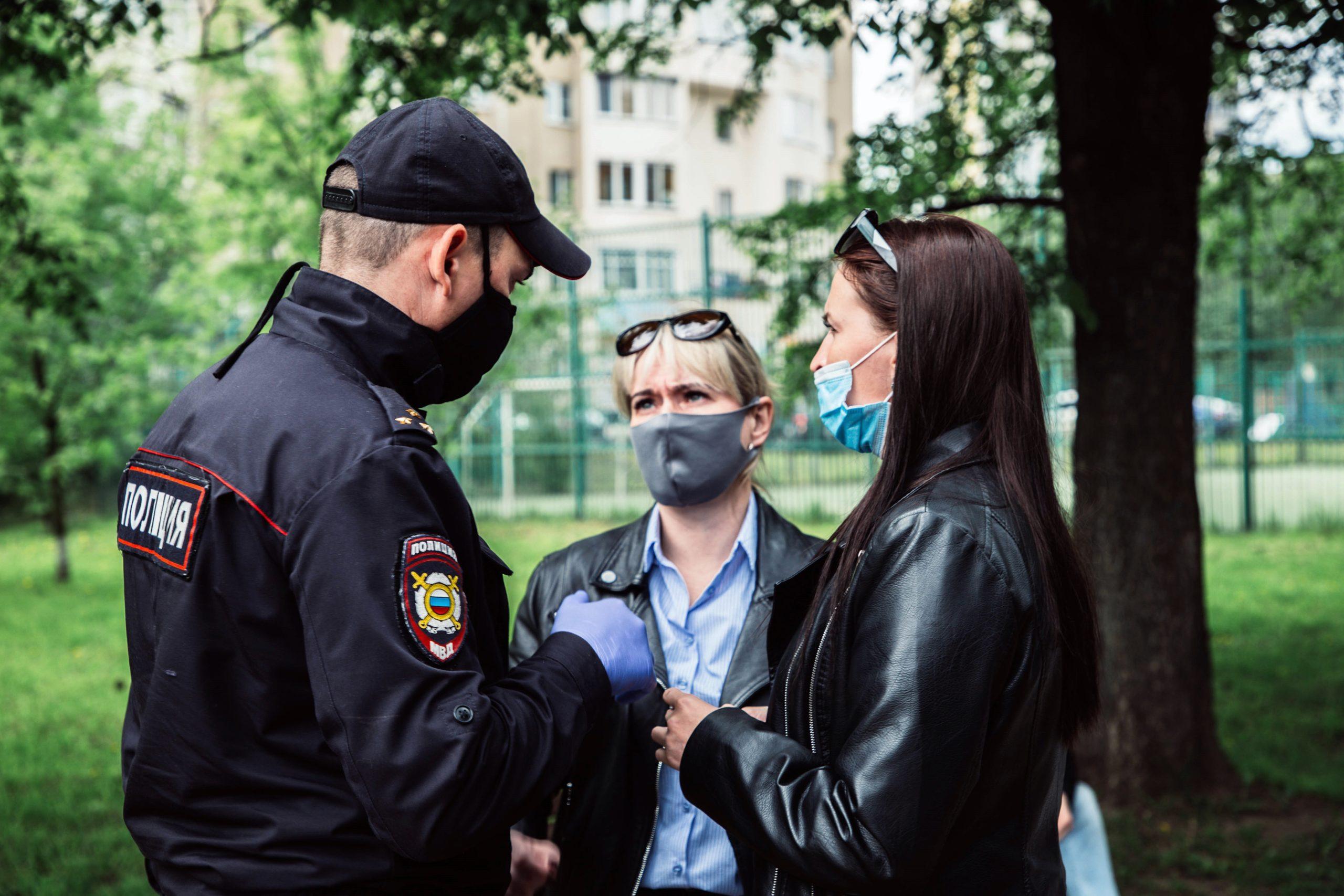 В тверских парках полицейские ловят нарушителей