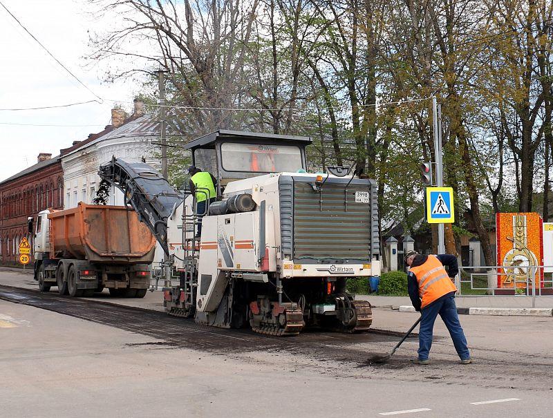 На шести улицах Торопца ведутся ремонтные работы