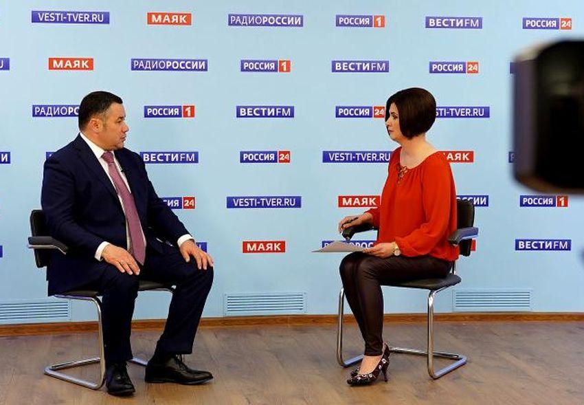 Игорь Руденя в прямом эфире ответил на актуальные вопросы жителей Тверской области