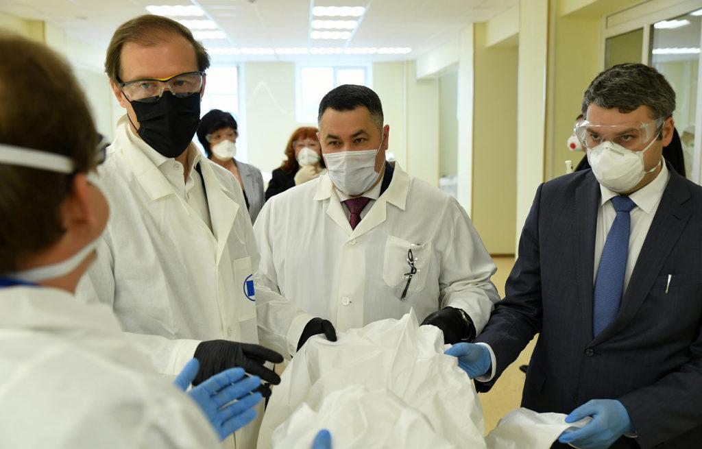 Игорь Руденя и Денис Мантуров посетили предприятия Тверской области