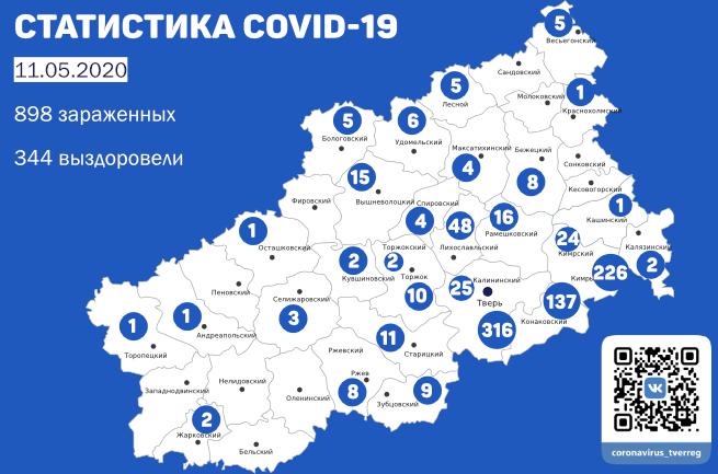 Еще 10 человек вылечились от коронавируса в Тверской области