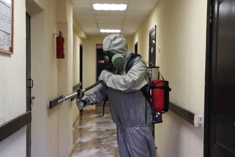 В  Тверской области пожарно-спасательные части обрабатывают антисептиками