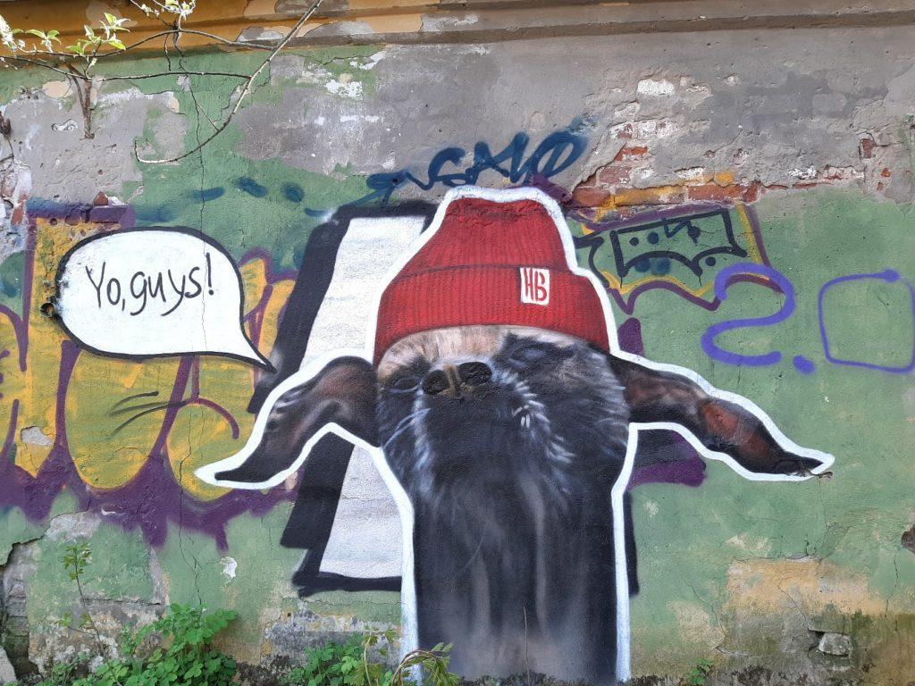 Под Тверью появилось новое яркое граффити