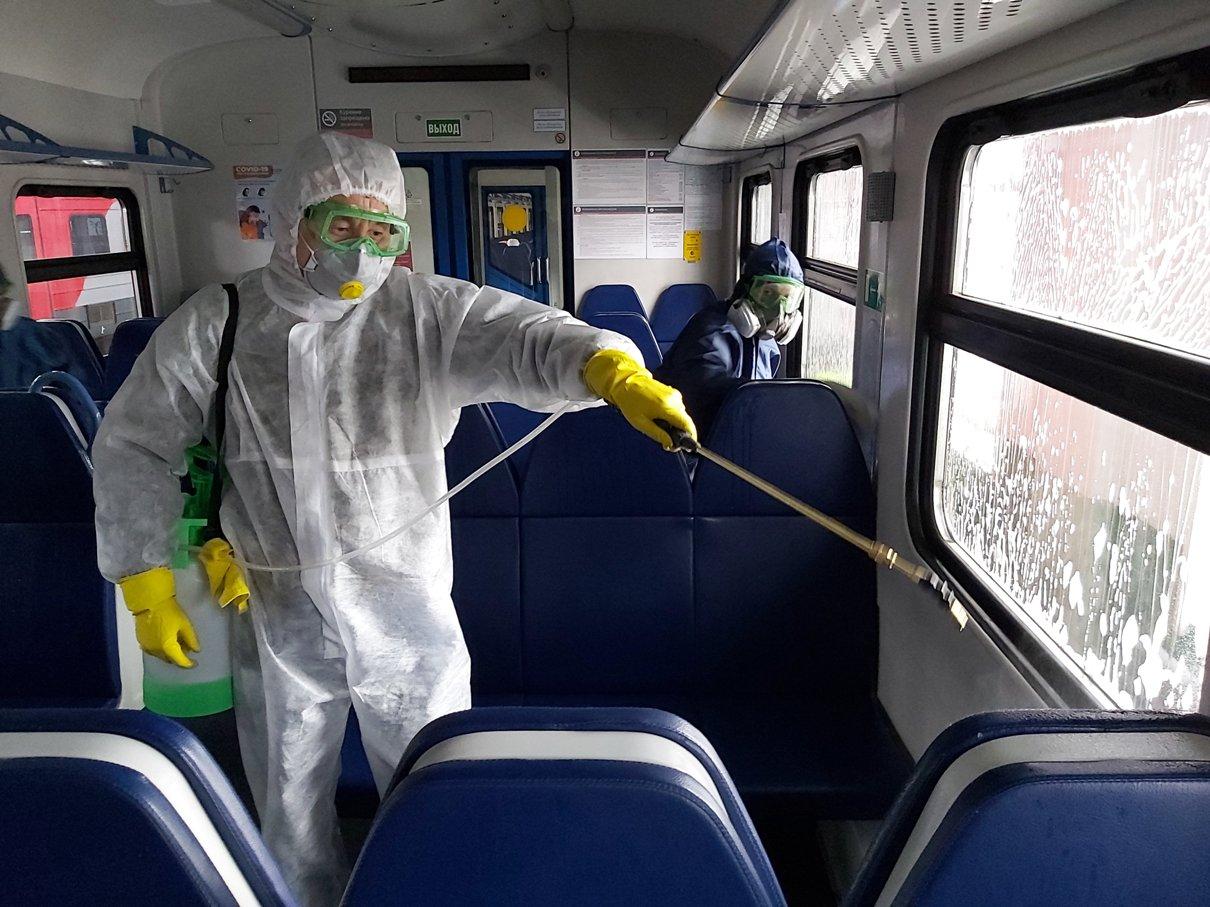 В Тверской области  в вагонах электричек регулярно проводят дезинфекцию