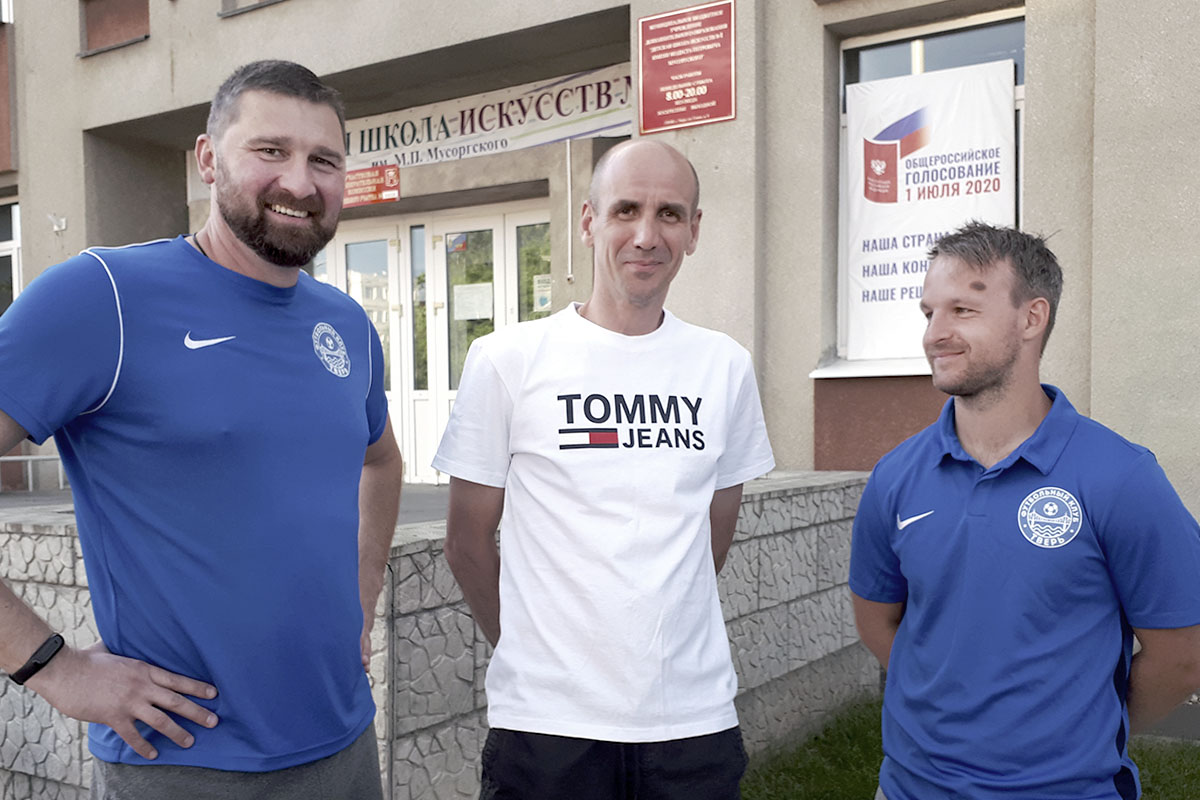 Тренерский штаб футбольного клуба «Тверь» принял участие в Общероссийском голосовании