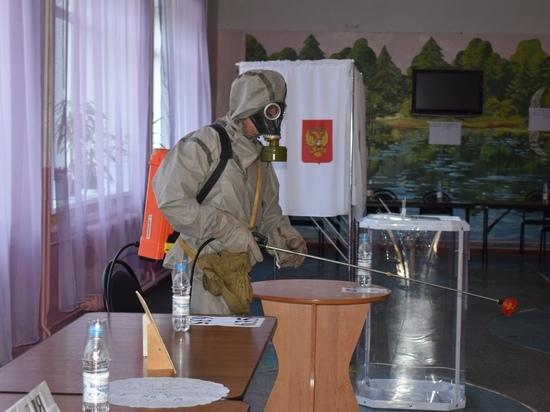 Новости голосования: в Тверской области сотрудники МЧС продезинфицировали избирательные участки
