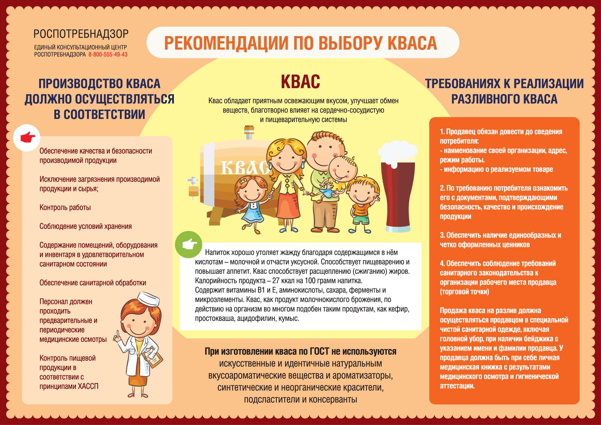 Жителям Тверской области дали рекомендации по выбору кваса