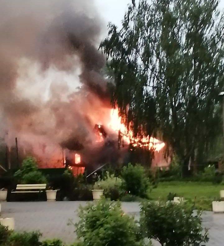 В Тверской области сгорел дом — памятник кимрского модерна