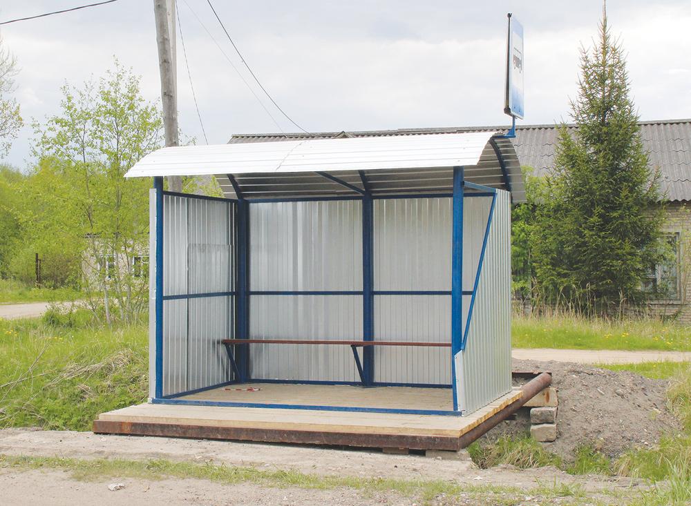Новый павильон автобусной остановки появился в Тверской области