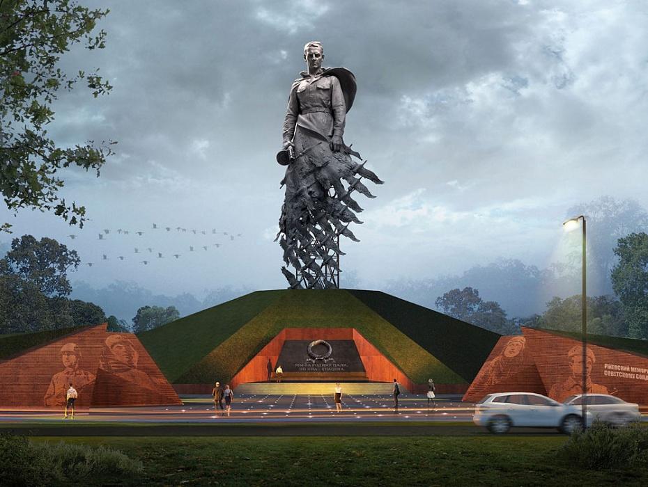 Ржевский мемориал Советскому солдату - имена павших