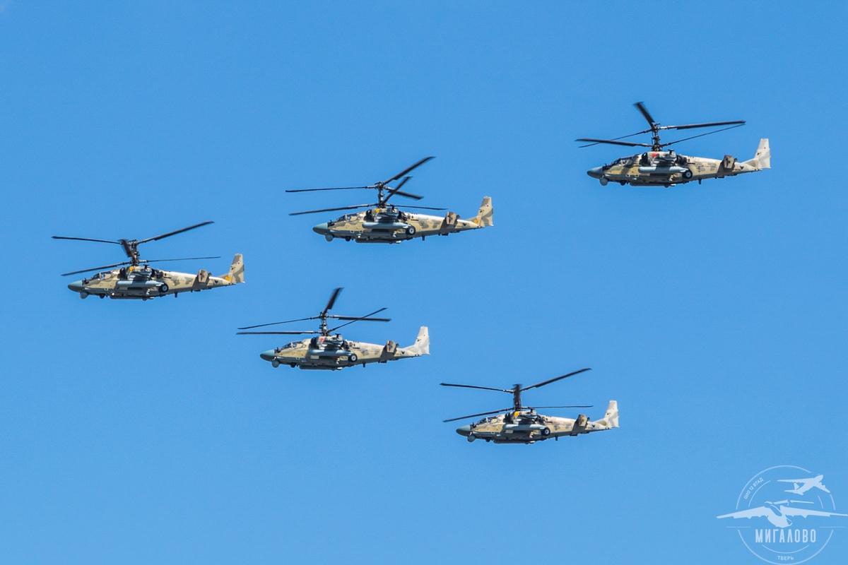 Тверские авиаторы опубликовали видео пролета парадных групп над Тверью