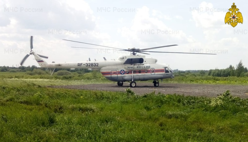 Вертолет санавиации вылетал на помощь пациенту из Лесного района