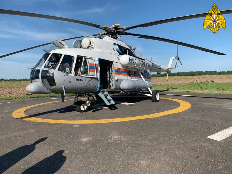 В Тверской области вертолет санавиации дважды вылетал за тяжелобольными пациентами